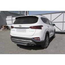 Защита заднего бампера Hyundai SANTA-FE (2018)  d57 короткая