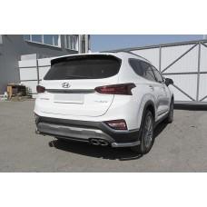 Защита заднего бампера Hyundai SANTA-FE (2018) Уголки d57