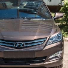 Накладки на фары Hyundai Solaris (14-17)