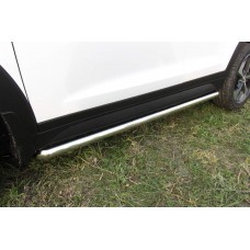 Защита порогов Hyundai Tucson 4WD (2015) d57 труба