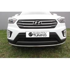 Защита переднего бампера Hyundai CRETA d42 радиусная