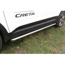 Защита порогов Hyundai CRETA d57 труба
