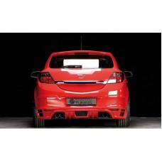 Накладка на задний бампер Opel Astra H GTC