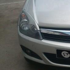 Накладки на фары Opel-Astra-H фигурные