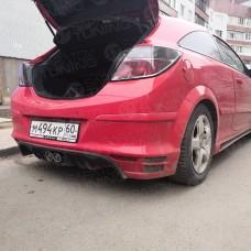 Накладка на задний бампер Opel Astra H GTC (2004-2015)