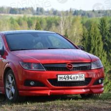 Накладка на передний бампер Opel Astra H GTC (2004-2015)