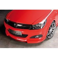 Накладка на передний бампер Opel Astra H GTC