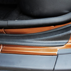 Накладки на пороги Renault DUSTER (2010-н.в.)/Nissan Terrano (2014-н.в.) ABS пластик