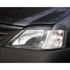 Накладки на фары Renault Logan (фаза 1) (04-09)