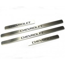Накладки на пороги Chevrolet-Aveo-Lacetti-Lanos-Niva краска