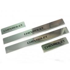 Накладки на пороги Chevrolet-Cobalt краска