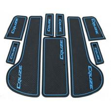 Коврики в карманы Chevrolet-Cruze-J300 синие 9шт