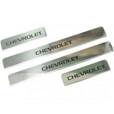 Накладки на пороги Chevrolet-Cruze-Epica-Orlando краска