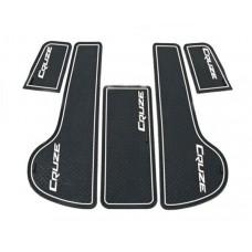 Коврики в карманы Chevrolet-Cruze-J300 белые люминисцентные 5 шт