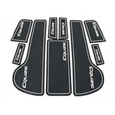 Коврики в карманы Chevrolet-Cruze-J300 белые люминисцентные 9 шт