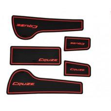Коврики в карманы Chevrolet-Cruze-J300 красные 5 шт