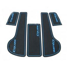 Коврики в карманы Chevrolet-Cruze-J300 синие 5 шт