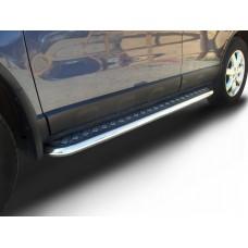 Защита порогов Honda-CR-V (2009) d57 с листом