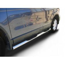 Защита порогов Honda-CR-V (2009) d76 с проступями