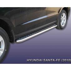 """Пороги Hyundai-Santa-Fe-2-CM d57 с листом (чёрный """"квинтет"""")"""