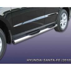Пороги Hyundai-Santa-Fe-2-CM d76 с проступями