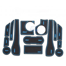 Коврики в карманы Kia-Rio-3 синие 1,4