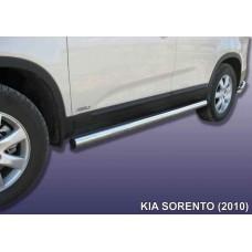 Защита порогов KIA SORENTO (2010) d76 труба