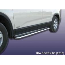 Защита порогов KIA SORENTO (2010) d42 с листом