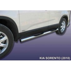 Защита порогов KIA SORENTO (2010) d76 с проступью