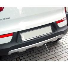 Накладка на задний бампер Kia Sportage 3 (2010-2016) вариант 2