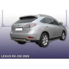 Защита заднего бампера LEXUS RX-350 (2009) d57+d57 двойная