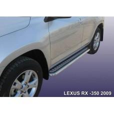 Защита порогов LEXUS RX-350 (2009) d57 с листом