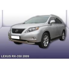 Защита переднего бампера LEXUS RX-350 (2009) d57+d57 двойная