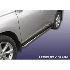Защита порогов LEXUS RX-350 (2009) d57 труба с гибами