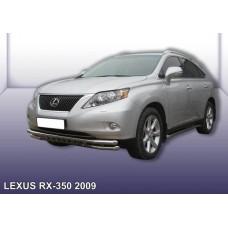 Защита переднего бампера LEXUS RX-350 (2009) d57+d57 двойная с защитой картера