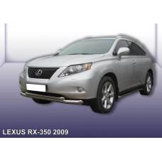 Защита переднего бампера LEXUS RX-350 (2009) d76+d57 двойная