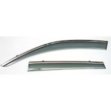 Ветровики Artway с металлизированным молдингом Nissan Qashqai 08-