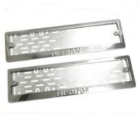 Рамки для номера Nissan штамп