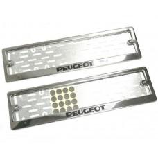 Рамки для номера Peugeot краска