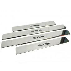 Накладки на пороги Skoda-Fabia-Oktavia-Roomster краска