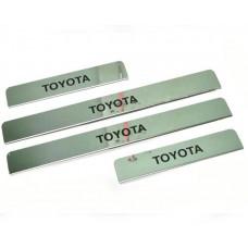 Накладки на пороги Toyota-Rav4 краска