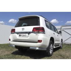 Защита заднего бампера Toyota LAND CRUISER 200 (2015) Уголки d76
