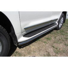 Защита штатного порога Toyota LAND CRUISER 200 (2015) d42