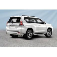Защита заднего бампера  Toyota LC PRADO J150 (2017) d76+d42 двойная