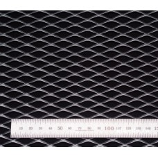 Сетка в бампер серебристая 100x40см N25