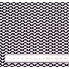 Сетка в бампер черная 100x25см N16