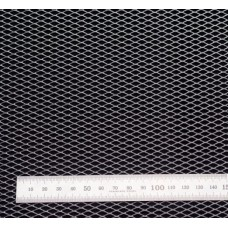 Сетка в бампер серебристая 100x25см N10