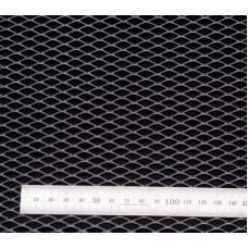 Сетка в бампер серебристая 100x25см N16