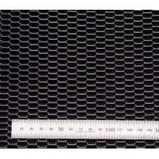 Сетка в бампер серебристая 100x25см N20