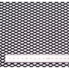 Сетка в бампер черная 100x40см N16
